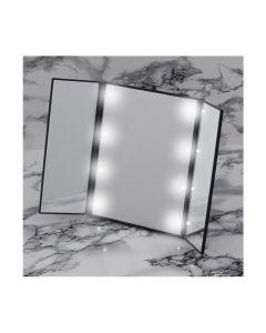 Τριπλός Φορητός Καθρέπτης Ταξιδίου με Οθόνη Αφής LED και Βάση GloBrite Χρώματος Μαύρο VL1899 - 3956