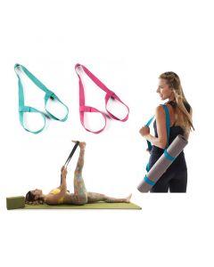 Ιμάντας για Στρώμα Γιόγκα Yoga Mat Carrier and Stretch Assister Χρώματος Μπλε SPM YogaMatStrap-BLUE - 5742