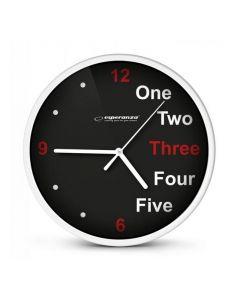 ESPERANZA ρολόι τοίχου Prague EHC014W, 20cm, λευκό EHC014W id: 23124