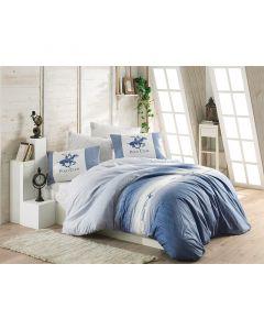 Σετ Διπλή Παπλωματοθήκη με Μαξιλαροθήκες και Σεντόνι 200 x 220 cm Beverly Hills Polo Club 030 Χρώματος Μπλε - 8273