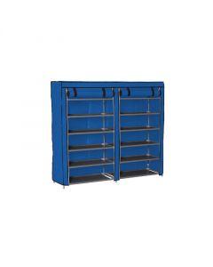 Stand Αποθήκευσης Παπουτσιών με 12 Ράφια 29 x 115 x 109 cm Χρώματος Μπλε Hoppline HOP1000975-4 - 9020