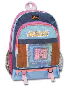 Τσάντα πλάτης δημοτικού από νάυλον - τζην 36.5x28x14εκ. - 17332---63-2