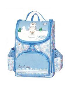 Tiger τσάντα πλάτης δημοτικού Cutie teddy μπλε με 1 θήκη 27x26x15εκ. - 25772-03ΒΦΧ2