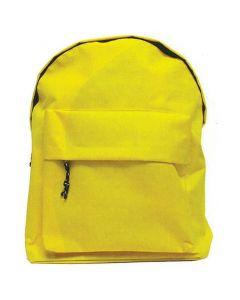 Τσάντα πλάτης κίτρινη με 1 θήκη 42x32x16εκ. - 32000-01---2