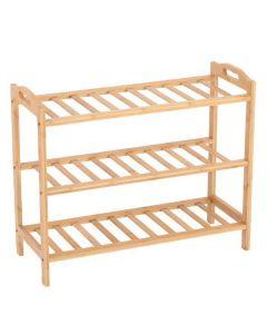 Παπουτσοθήκη 9 ζευγαριών από Bamboo 65x26x54εκ. - 30570------2
