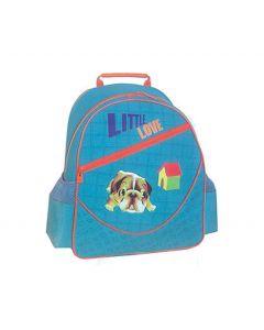 Tiger τσάντα πλάτης δημοτικού Little love αν. μπλε με 1 θήκη 39x38x13εκ. - 25787-20ΒΦ-2