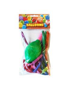 Μπαλόνια κατασκευής με τρόμπα 10 τεμάχια - 29331---ΔΜ-2