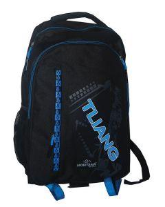 Montana τσάντα πλάτης εφηβική Edison με μπροστινή θήκη 40x28x13εκ. - 30706---ΖΒ-2