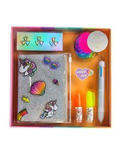 Σετ γραφικής ύλης unicorn 11 τεμ. σε κουτί δώρου Υ3x22×22εκ. - 33031------2