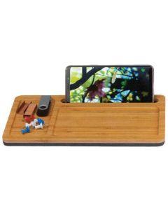 Θήκη οργάνωσης και φορτιστής κινητού χωρίς καλώδιο ξύλινη. 25.5x13.5x1.8εκ. - 21106------2