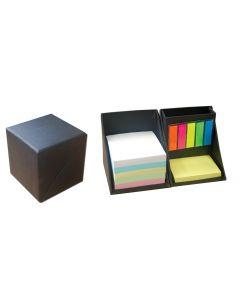 Κύβος-μολυβοθήκη με χαρτάκια - σελιδοδείκτες μαύρο 9x9x9εκ. - 22245------2