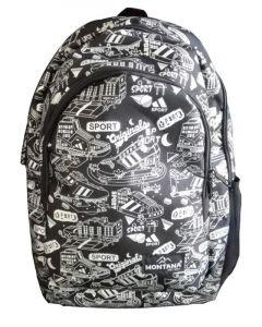 Montana τσάντα πλάτης εφηβική μαύρη σπορ με 1 θήκη 40x27x13εκ. - 30703---ΖΒ-2