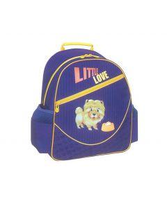 Tiger τσάντα πλάτης δημοτικού Little love μπλε με 1 θήκη 39x38x13εκ. - 25787-03ΒΦ-2