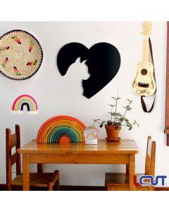 Ξύλινο κάδρο Γάτα 90x80cm SKU-00016-1