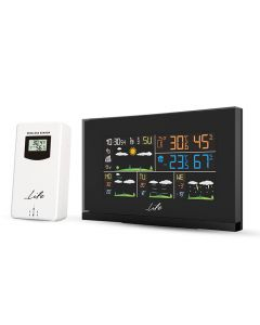 LIFE SMARTWEATHER TUNDRA CURVED  WEATHER STATION  WITH ONE OUTDOOR SENSOR 221-0188