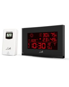 LIFE TUNDRA CURVED 8C RF433 WEATHER STATION WITH OUTDOOR SENSOR 221-0190