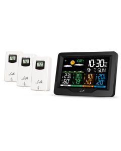 LIFE CONTINENTAL QUAD DISPLAY WEATHER STATION WITH 3 OUTDOOR SENSORS 221-0191