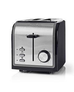 NEDIS KABT120EBK Toaster 2 Wide Slots Black 233-1626