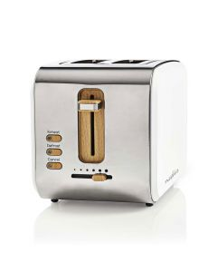 NEDIS KABT510EWT Toaster 2 Wide Slots Soft-Touch White 233-1628
