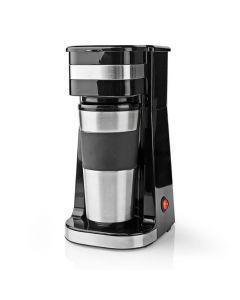 NEDIS KACM300FBK Single-Serve Coffee Maker Double Wall Travel Mug 0.42 L Black 233-1700