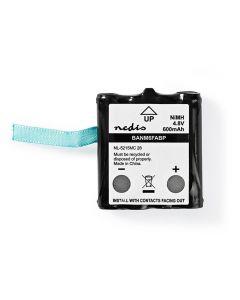 NEDIS BANM6FABP Nickel-Metal Hydride Battery 4.8 V 600 mAh 233-1758