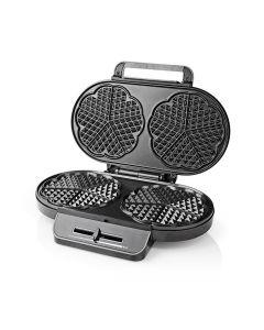NEDIS KAWP110FBK Waffle Maker 2x 14 cm 1200 W Black 233-1760