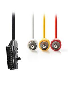 NEDIS CVGT31130BK20 SCART - RCA Cable SCART Male 3x RCA Male 2.0 m Black 233-1781