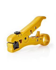 NEDIS CSGG49520YE Coax Cable Stripper RG59 - RG6 - RG7 - RG11 233-1832