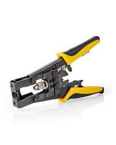 NEDIS CSGG49540YE Compression Tool BNC, RCA and F-connectors RG58, RG59, RG6 Sof 233-1834