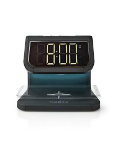 NEDIS WCACQ10W1BK Alarm Clock Wireless Charger Qi Certified Multicolour Nightlig 233-1853