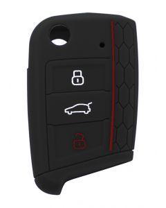 Θήκη κλειδιού για αυτοκίνητα Volkswagen 1001-06, εύκαμπτη, μαύρη 1001-06 id: 37971