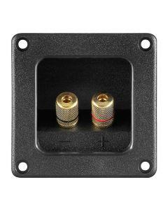 GOOBAY τερματικό ηχείου 6mm ή banana plug 4mm 11698, τετράγωνο, μαύρο 11698 id: 35464