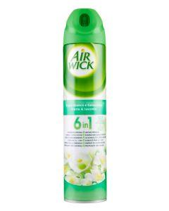 AIR WICK αποσμητικό spray χώρου φρέζια & γιασεμί 6 in 1, 240ml 3059943016569 id: 30738