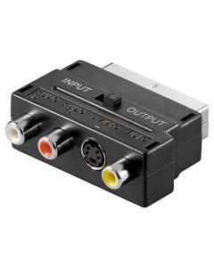 GOOBAY αντάπτορας SCART 21-pin αρσενικό σε 3x RCA θηλυκό 50123, μαύρο 50123 id: 35458