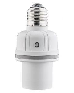 GOOBAY αντάπτορας λάμπας Ε27 55500, με αισθητήρα ήχου & φωτός, λευκός 55500 id: 35516