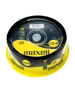 MAXELL CD-R, 700MB/80min, 52x speed, Cake 25 628522-40-TE id: 43470