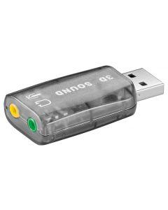 GOOBAY USB κάρτα ήχου 68878, με έξοδο μικρόφωνου και ακουστικού 68878 id: 36990