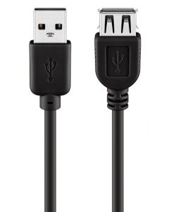 GOOBAY καλώδιο USB 2.0 σε USB (F) 68903, copper, 1.8m, μαύρο 68903 id: 35524