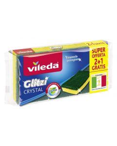 VILEDA Σφουγγάρι πιάτων Glitzi Crystal, 3τμχ 8001940004044 id: 4331