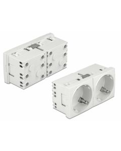 DELOCK διπλό module πρίζας ρεύματος Easy 45 81325, 45°, 45x45mm, 5τμχ 81325 id: 31119