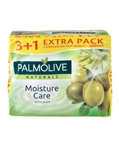 PALMOLIVE σαπούνι Moisture care, με εκχύλισμα ελιάς, 4x 90g 8693495053792 id: 30607