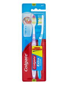 COLGATE οδοντόβουρτσα Extra Clean με καπάκι, medium, 2τμχ 8714789162607 id: 30734