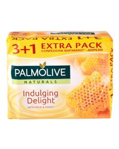 PALMOLIVE σαπούνι Indulging delight, με γάλα & μέλι, 4x 90g 8714789699172 id: 4245
