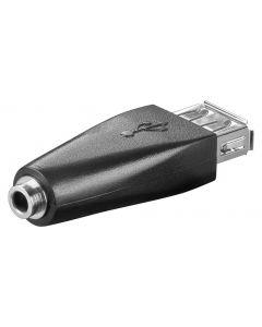 GOOBAY αντάπτορας USB θηλυκό σε 3.5mm θηλυκό 93982, μαύρο 93982 id: 36984
