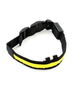 Περιλαίμιο σκύλου AG232B με φωτισμό LED, 34-44cm, μαύρο/κίτρινο AG232B id: 25085