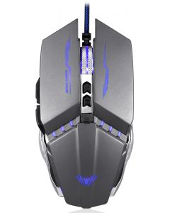 AULA ενσύρματο gaming ποντίκι Mountain S30, 2400DPI, 6 πλήκτρα, ασημί AUL-S30 id: 34365