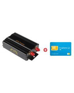 Bundle COBAN GPS Tracker αυτοκινήτου TK103B & προπληρωμένη κάρτα SIM Io3 BNDL-0104 id: 41856