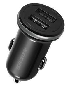 BOROFONE φορτιστής αυτοκινήτου BZ5, 2x USB, 2.1Α 12W, μαύρος BRF-BZ5-BK id: 34941