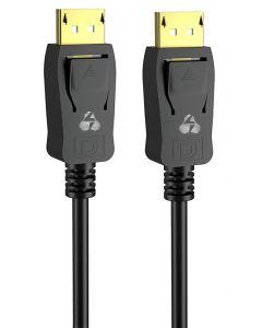 POWERTECH καλώδιο DisplayPort 1.2V CAB-DP046, copper, 4K, 1.5m, μαύρο CAB-DP046 id: 41806