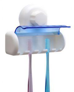Βάση αποθήκευσης για 5 οδοντόβουρτσες CLN-0023, με βεντούζα, λευκό CLN-0023 id: 36212